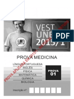 Prova Medicina 2015 - Objetiva Com Gabarito