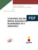 Control de Un Robot Móvil Basado en Raspberry Pi y Arduino