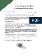LM2940 12V 1A Low Dropout Regulator