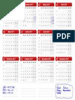Calendário 2017 v2.0