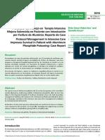 Protocolo de Manejo en Terapia Intensiva Mejora Sobrevida en Paciente Con Intoxicacioacuten Por Fosfuro de Aluminio Reporte de Cas