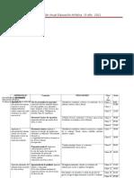 90689065 Planificacion Anual Educacion Artistica 1º Ano 2012