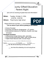 gifted parent night invitation october 2016  1