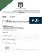yr 10 job application assessment