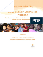 Adelaide Solar City Home Energy Assistance Program