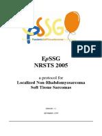 EpSSG Localizd Non Rhabdomyosarcoma Soft Tissue Sarcoma Protocol 2005