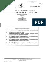 CAPE- Caribbean Studies- Paper 02- 2007