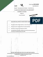 CAPE- Caribbean Studies- Paper 01- 2013