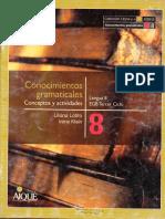 Conocimientos Gramaticales - Conceptos y Actividades para 8vo de EGB3