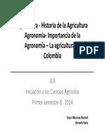 1° CLASE LA AGRICULTURA Y LA AGRONOMIA