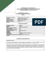 Programa Sociología Política de Colombia III - 2017-1