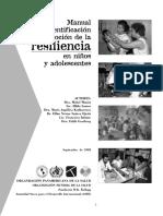 Manual de Identificación de La Resiliencia en Niños y Adolescentes