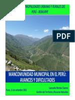 130911 Mancomunidades - L Montes - REMURPE
