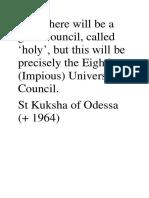 St Kushka of Odessa Prophecy
