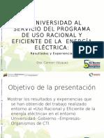 La Universidad al Servicio del Programa de Uso Racional y Eficiente de la Energía Eléctrica