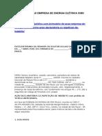 Modelo de Ação Empresa de Energia Elétrica Icms