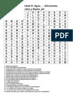 Sopa de Letras Unidad III Soluciones, Concentracion, Acidos y Bases