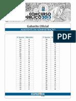 Gabarito Oficial Após Recursos UFSM 2013