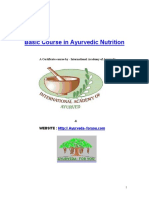 Basic Course in Ayurvedic Nutrition Sample