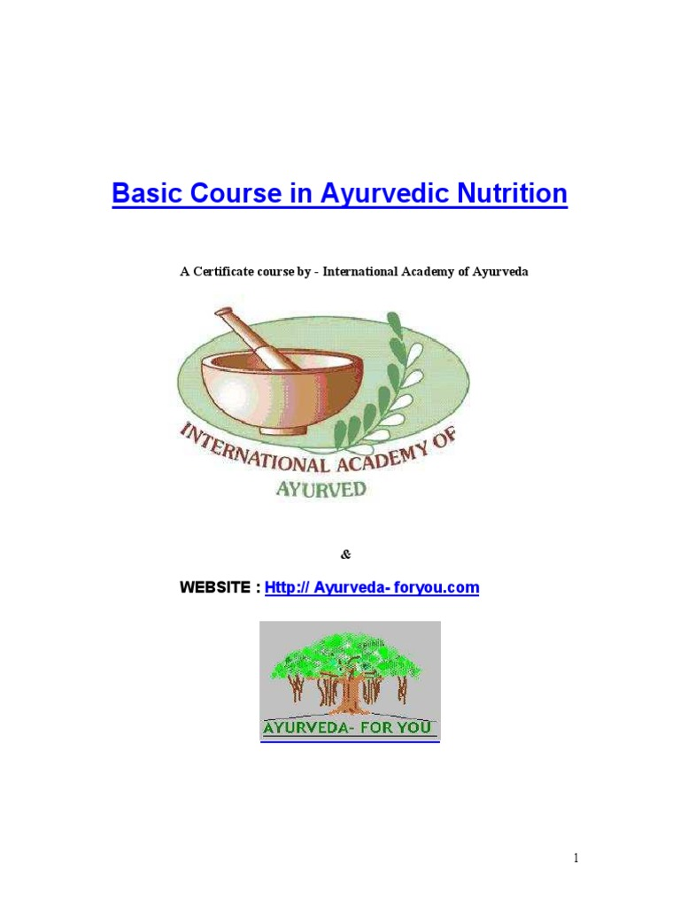 Basic course in ayurvedic nutrition sample ayurveda foods xflitez Choice Image