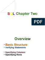SQL Chapter Two
