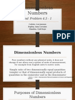 Dimensionless Numbers & Problem 4.5 -1