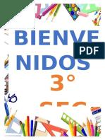 CARTEL DE BIENVENIDA 3°SEC