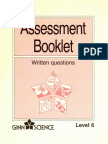 16071-Assessment Booklet Written Question Level 6