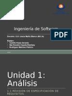 1.1 Revisión de Especificación de Requisitos.