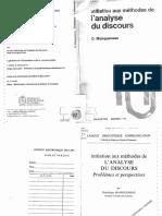 Initiation aux méthodes de l'analyse du discours. Dominique Maingueneau