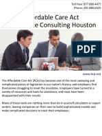 Affordable Care Act - Full Service Consulting Houston