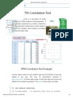 SPSS Tutorials _ SPSS Correlation Test