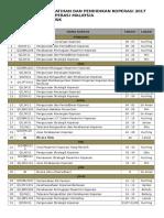 Jadual Kursus 2017