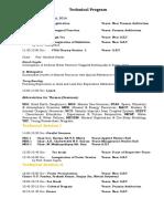 Technical Program FIGA