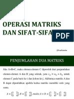 13 Operasi Matriks Dan Sifat-sifatnya