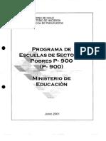 Programa de Escuelas de Sectores Pobres p900 2001