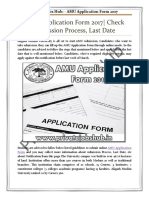 AMU Application Form 2017   Check Admission Process, Last Date