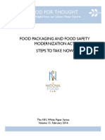 Food Packaging and Food Safety Modernization Act 14
