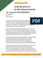 Firman acuerdo para la operación del Conservatorio de Música en Guaymas