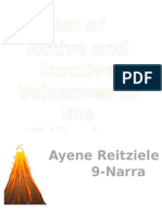Active and Inactive List of Volcanoes