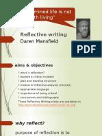 Reflective Writing slides