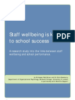 Staff wellbeing is key to school success - Summary