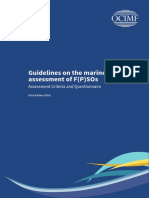 Guidelines on the Marine Assessment of F P SOs Assessment Criteria and Questionnaire(1)