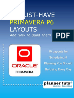 eBook Ptuts 10 MUST HAVE Primavera P6 Layouts