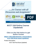 ACCT 324 Entire Course (Updated)