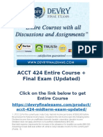ACCT 424 Entire Course + Final Exam (Updated)