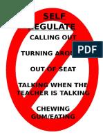 self regulate poster