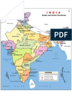 India Political Map 541254