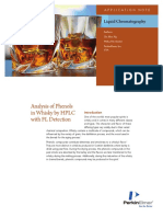APP Analysis of Phenols in Whisky by HPLC With FL Detection 012266 01