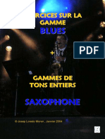 Exercices Gamme Blues Saxophone (Démo)